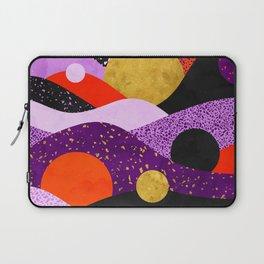 Terrazzo galaxy purple orange gold Laptop Sleeve