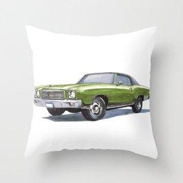 71 Monte Carlo SS 454 Throw Pillow