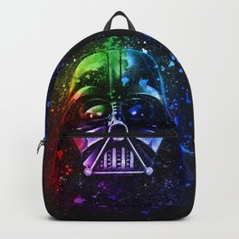 Darth Vader Splash Painting Sci-Fi Fan Art Backpack