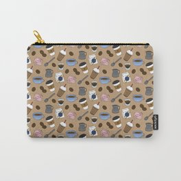 Cafe Pattern Carry-All Pouch