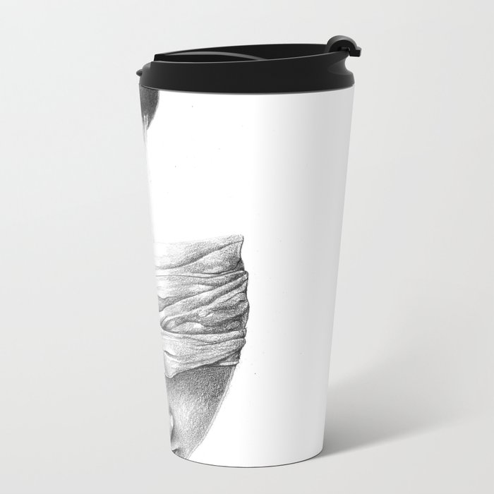 get your head out of the covers... Metal Travel Mug