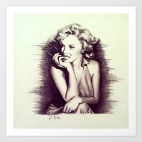Marilyn Sketch Art Print