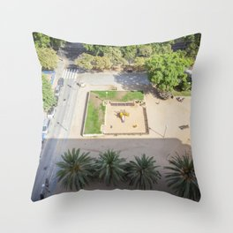Barcelona Aerial Throw Pillow