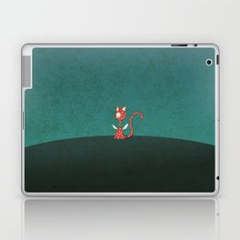 Small winged polka-dotted red cat Laptop & iPad Skin
