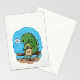"""lunch in the city"" Stationery Cards"