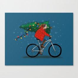 Bike Life: Christmas Canvas Print