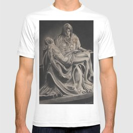Statue -in charcoal T-shirt