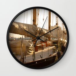 yacht in the port of Monaco Wall Clock