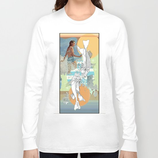 skeleton surf Long Sleeve T-shirt