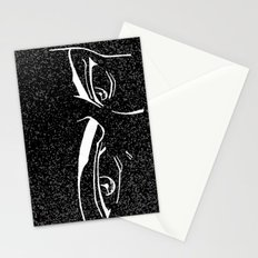 Doubt eyes bw Stationery Cards