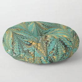 Blurry Window, Combed Marbling Pattern Floor Pillow