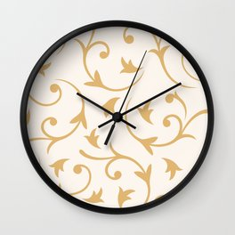 Baroque Design – Gold on Cream Wall Clock
