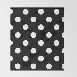 Polkadot (White & Black Pattern) Throw Blanket