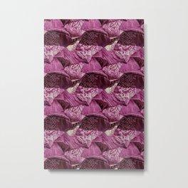 Foxglove Pattern Metal Print