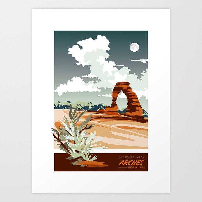 DELICATE ARCH MOAB UTAH Kunstdrucke