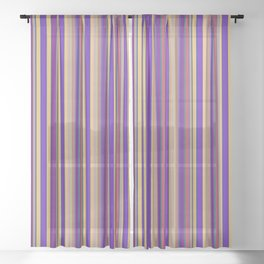 awning stripe Sheer Curtain