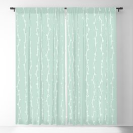 Willow Stripes - Sea Foam Green Blackout Curtain