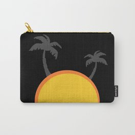 Sunset with palm trees, summer, vacation Carry-All Pouch
