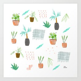 Botanica Pattern Art Print
