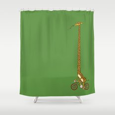 Long Bike Ride Shower Curtain