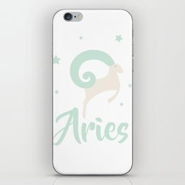 Aries March 21 - April 19 - Fire sign - Zodiac symbols iPhone Skin