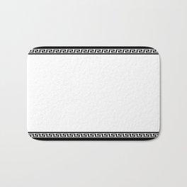 Greek Key - White Badematte