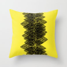 Feathered spine Throw Pillow