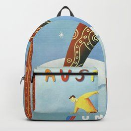 Australian Vintage Travel Poster Backpack