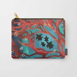 Fire Coral Carry-All Pouch