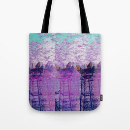 Stuck On Static Tote Bag
