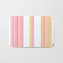 Coral and Gold Stripes Bath Mat