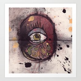 The cyclops is crying Art Print