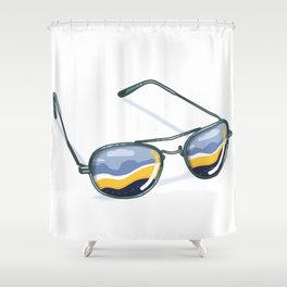 Refuge Of The Road Shower Curtain