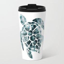 Sea Turtle - Turquoise Ocean Waves Travel Mug
