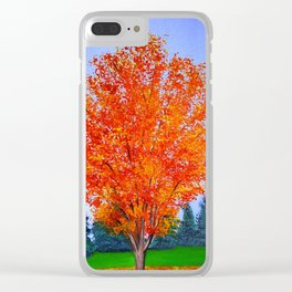 Fall tree in ND Clear iPhone Case