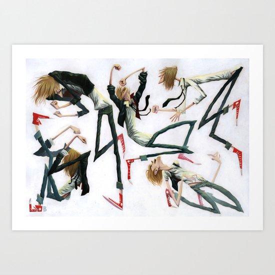Dancing Dudes Art Print