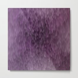 Pink and purple abstract rain Metal Print