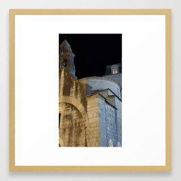 Kotor walled city Framed Art Print
