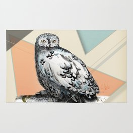 Owl McSit by carographic Rug