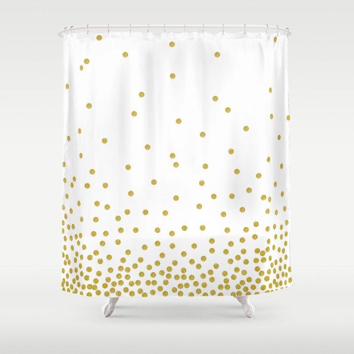 Golden Confetti Shower Curtain By Cafelab Society6