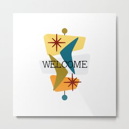 Mid Century Modern Welcome 1 Metal Print