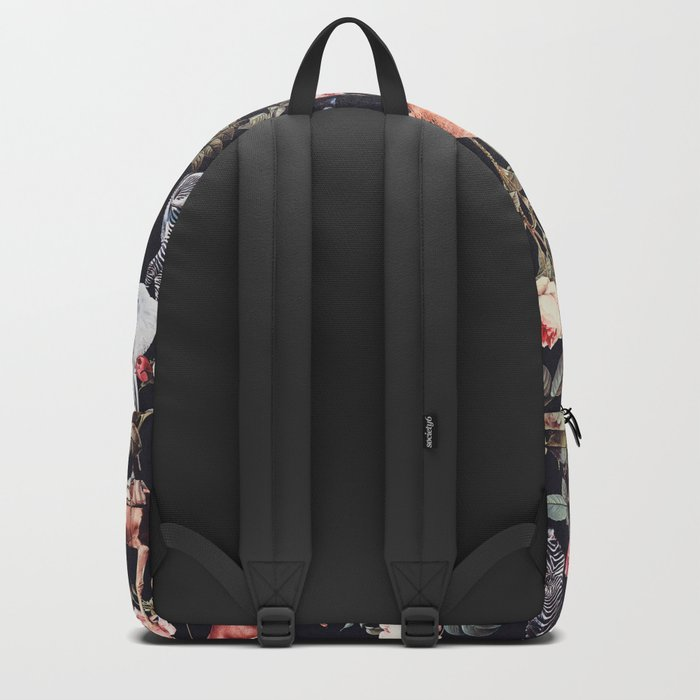 Animals and Floral Pattern Backpack