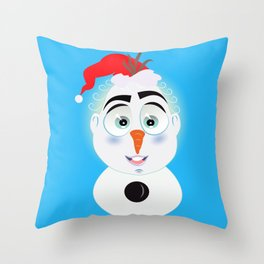 Lolo AlfsToys wants to become in Olaf Throw Pillow