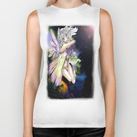 fairy Biker Tanks featuring Fairy by JoySlash