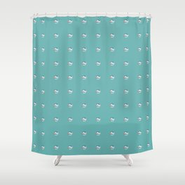 Painting of the Ocean on a Penny Print Shower Curtain