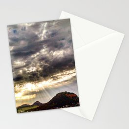 Beams over Butte Stationery Cards