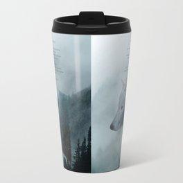 Wilderness Wolf & Poem Travel Mug