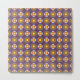 Pais de Azulejo Portuguese Tile Pattern Metal Print