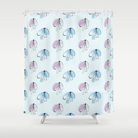 bows Shower Curtains featuring Bows by Anastasiya Zhulina