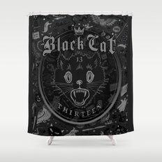 Black Cat 13 Halloween II  Shower Curtain